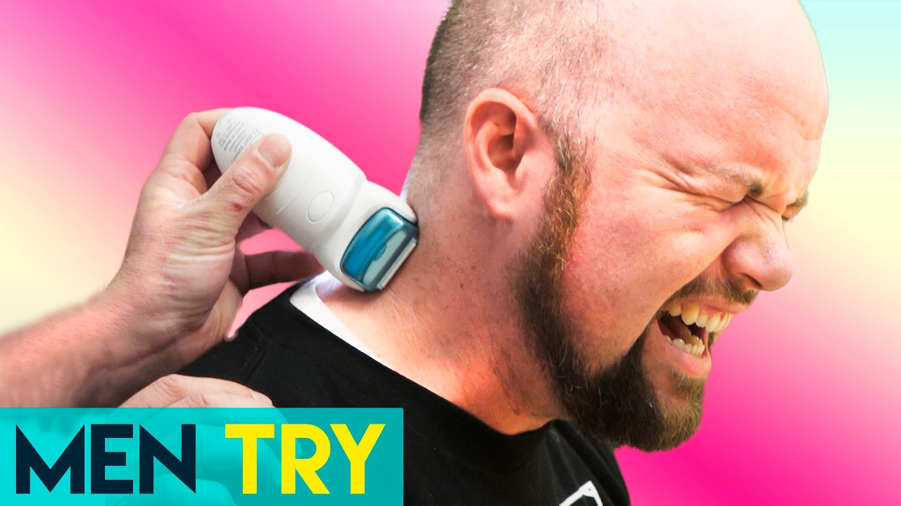 Men Try Painful Body Hair Removal With An Epilator Youtube