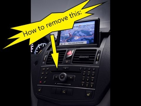 Mercedes W204 C Class How To Remove Comand Command Aps Navigation Head Unit Youtube