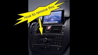 Repeat youtube video Mercedes W204 C Class How to Remove COMAND Command APS Navigation Head Unit