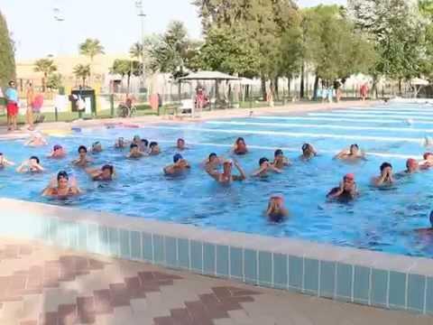 Aquaerobic en la piscina municipal de lebrija ii verano for Piscina municipal mataro
