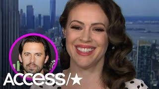 Milo Ventimiglia Crashes 'Childhood Crush' Alyssa Milano's Interview With Surprise On-Air Message