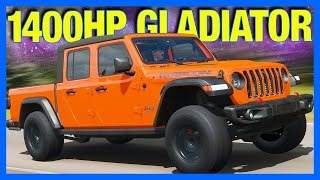 Forza Horizon 4 : 1400 Horsepower Gladiator!! (FH4 Jeep Gladiator)