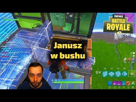 Janusz w bushu - Fortnite Gra Battle Royale Gameplay