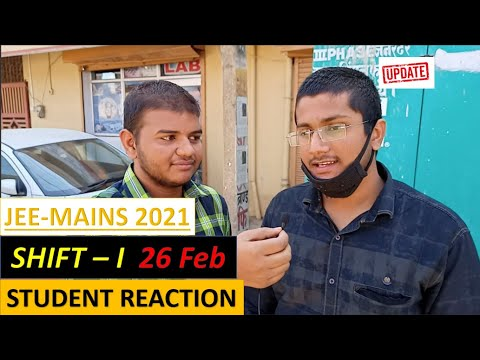 Jee Mains 2021 Student reaction| Jee mains 2021 26 February, Shift 1|Memory based questions|
