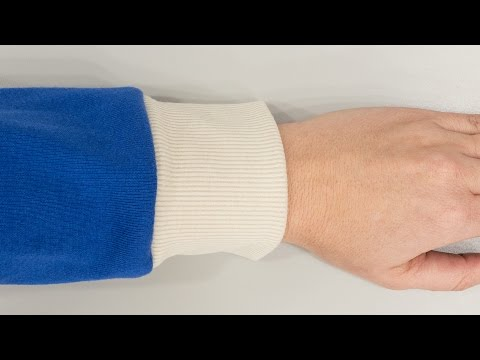How to Sew a Knitted Sleeve Band - Cuff
