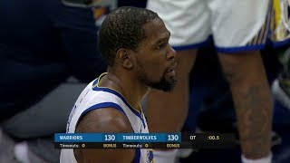 Kevin Durant RIDICULOUS Foul on Towns, GSW Bench Laughing | Warriors vs Wolves - March 29, 2019