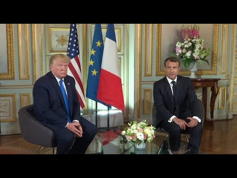 Watch live: Trump meets with French President Macron