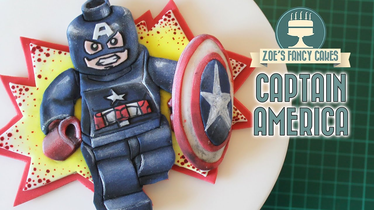 Captain America civil war cake topper lego YouTube