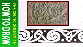 How To Draw Celtic Patterns 87 - Triskele And Double Spiral - Rodney's Stone Part 2 Of 7
