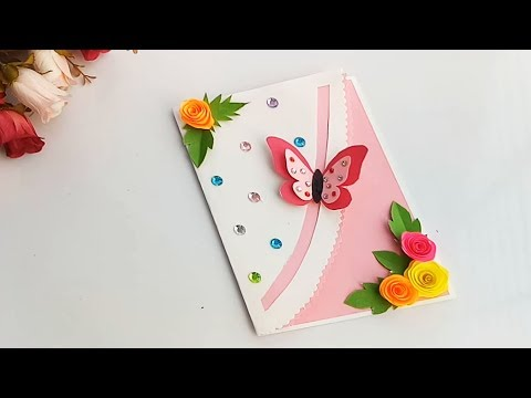 How to make Special Butterfly  Birthday Card For Best Friend//DIY Gift Idea...