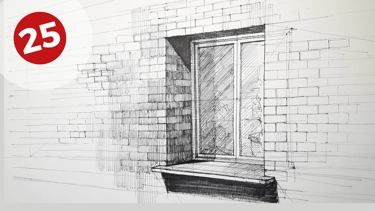 How to draw a window daily architecture sketches 25