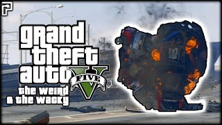 GTA 5 Funny Moments | HILARIOUS CAR METEOR & WEIRD GLITCHES! | GTA 5 Mods - The Weird & The Wacky