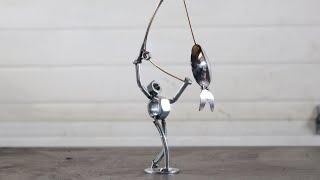 How To Weld A Fisherman Using Silverware With BarbieTheWelder