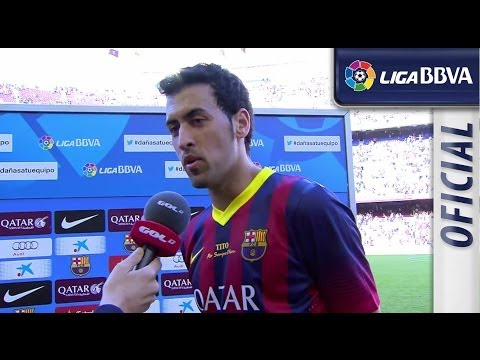 Interview Busquets after FC Barcelona (2-2) Getafe CF - HD