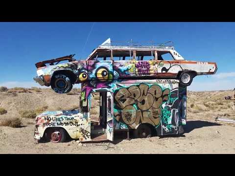 International Car Forest of the Last Church - VIDEO TOUR (Goldfield, Nevada)