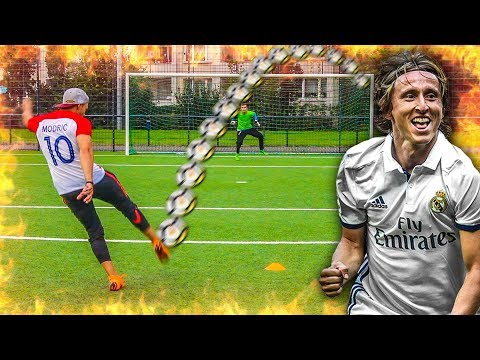 LUKA MODRIC FUßBALL CHALLENGE !