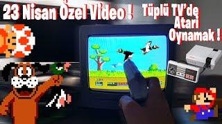 Tüplü TV'de Atari Oynamak ! Sizi Çocukluğunuza Döndürecek Video ! (23 Nisan Özel)