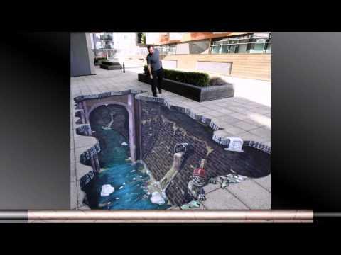 3D street art slideshow HD
