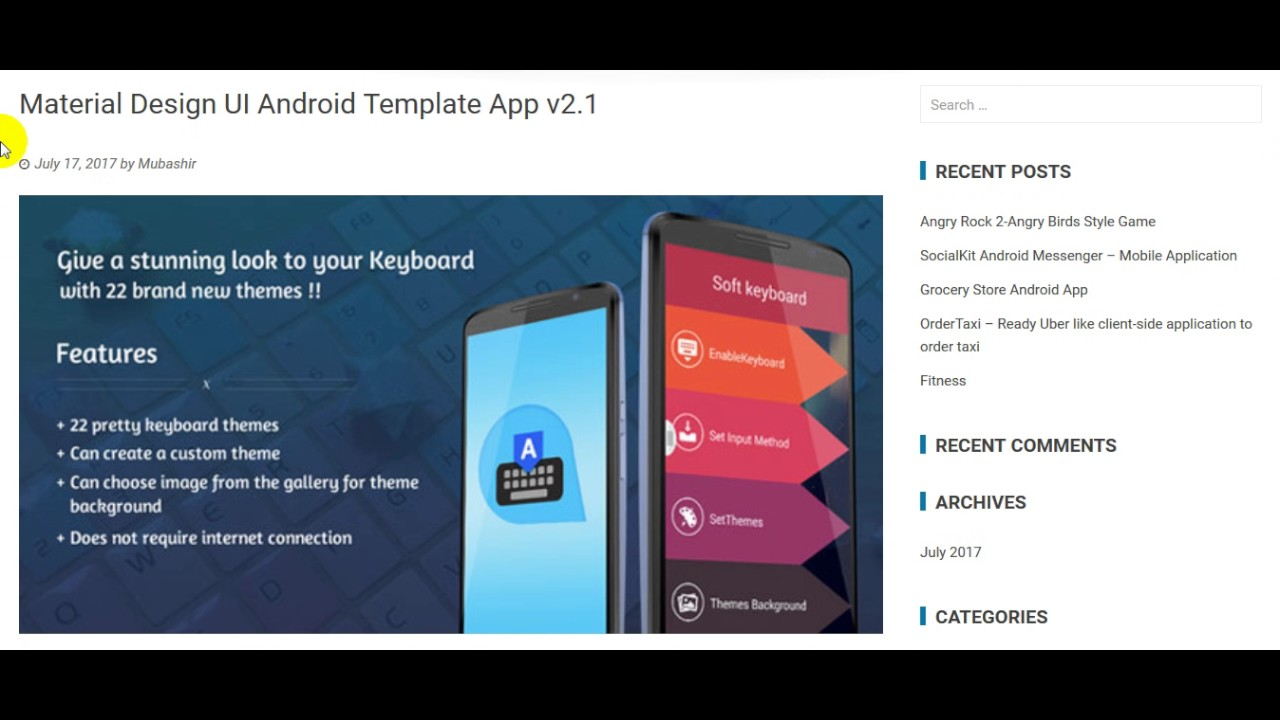 Template Application Android Free on android interface, android home icon, android master-detail flow,