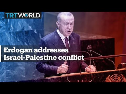 President Erdogan addresses Palestine-Israel conflict at UN