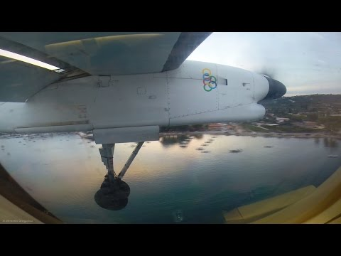 Olympic Dash 8 Q400 - Full Flight Athens - Skiathos - GoPro Engine View - Startup+Takeoff to Landing