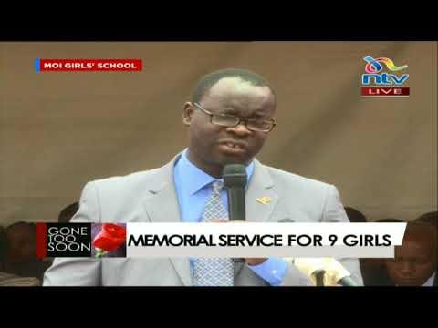 Kibra MP Ken Okoth gives a heartfelt speech at Moi Girls memorial service