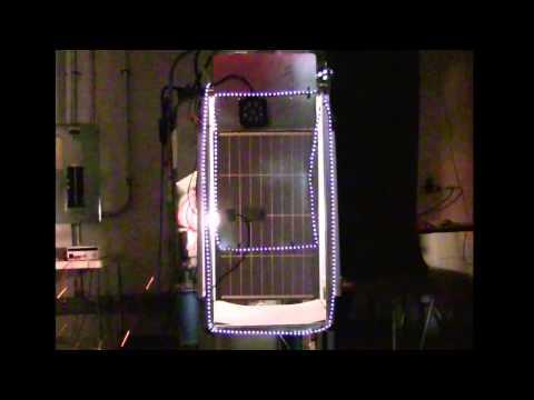 Prototype SunCell Generator Powering LED Lights