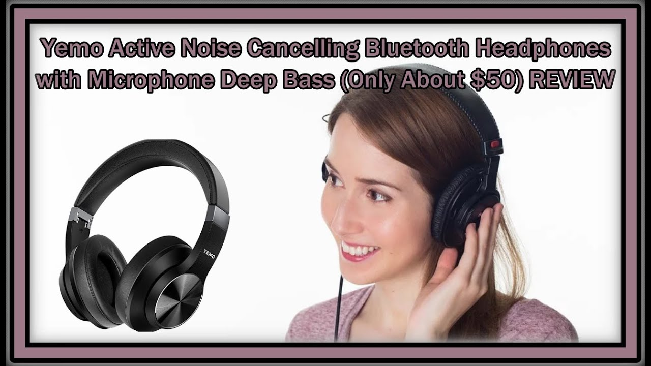 Yemo V9d Fantastic Active Noise Cancelling Bluetooth Headphones Mic Deep Bass Only 50 Review Youtube