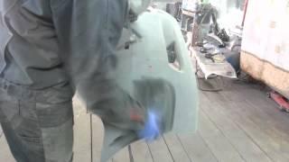 Как покрасить бампер, сколы. часть 2.