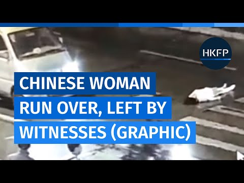 Chinese woman run over once, then again as witnesses leave her lying in traffic (graphic)