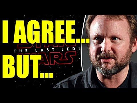 The Last Jedi: Rian Johnson Defends His POV of SW - RANT