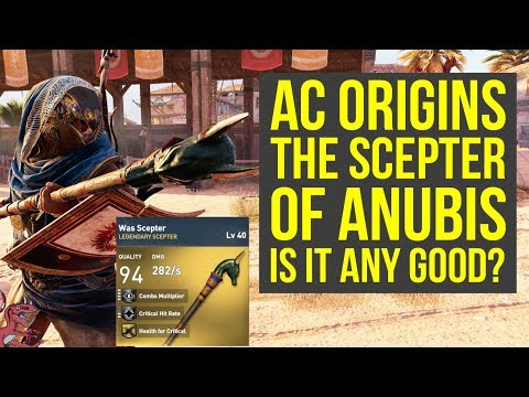 Assassin's Creed Origins Best Weapons SCEPTER OF ANUBIS (AC Origins Best Weapons)