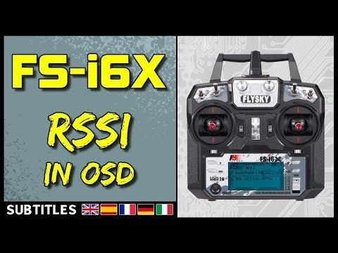 Flysky FS-i6X - Betaflight RSSI Into OSD (Firmware Upgrade)