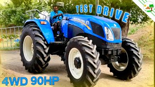 New 4WD Tractor Test Drive | New Holland Tractor Dealer in Villupuram | New Holland 9010 90 HP