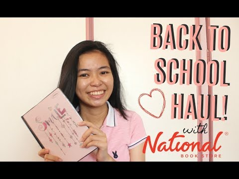 Back-to-School Haul 2017 with National Book Store (Philippines) +  First Ever Video!