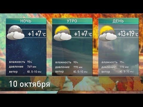 Прогноз погоды на 10 октября