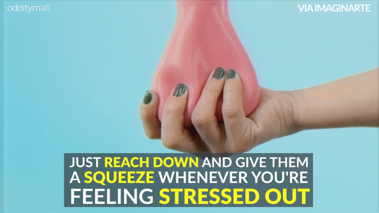 NiceBalls Under Desk Scrotum Shaped Stress Balls