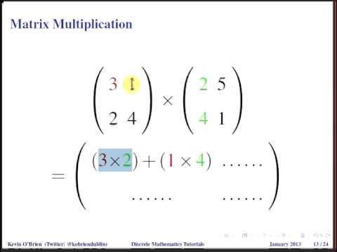 Discrete Mathematics : Matrix Multiplication