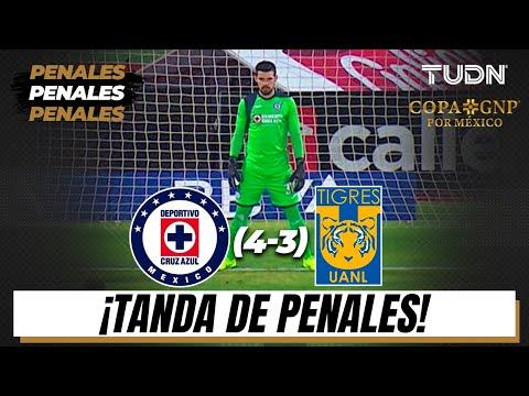 Tanda de Penales   Cruz Azul (4)-(3) Tigres   Semifinal Copa GNP por México   TUDN