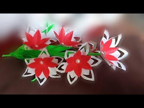 diy paper flower stick / paper flower stick diy / paper flower / paper crafts all