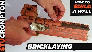 How to Build a Brick Wall mini Bricklaying