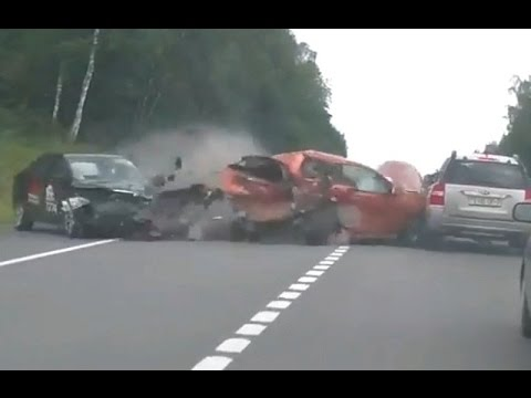 Deadly and tragic accident in Russia 2016 Shocking Car crash compilation