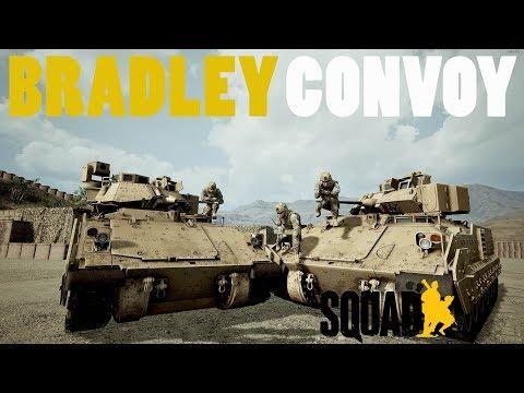 SQUAD - V11 GAMEPLAY|BRITISH UPDATE|M2 BRADLEY CONVOY