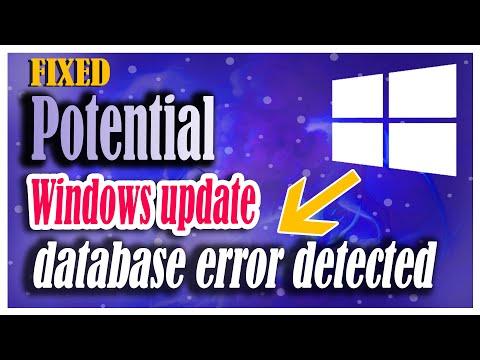 Fixed] - Troubleshoot (potential windows update database error