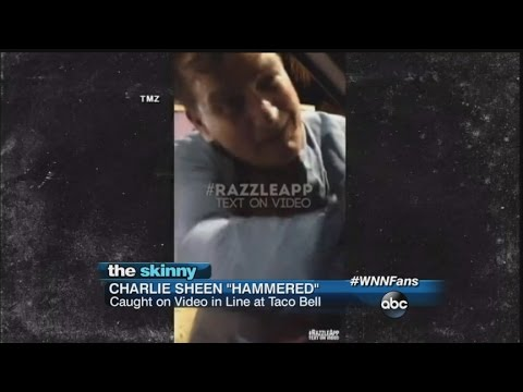 SKINNY: Charlie Sheen Hammered