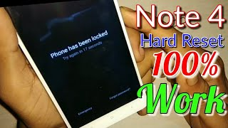 Redmi Note 4 Hard Reset |Miui 9| Easy Way
