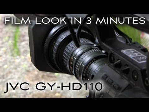 JVC GY-HD110 Film Look in 3 Minutes: Sharpness and iris settings + polarizing filter