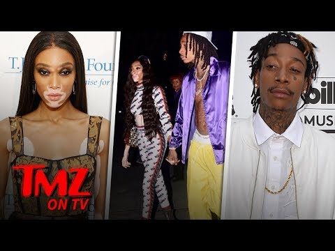 Winnie Harlow & Wiz Khalifa Show PDA for First Time as a Couple | TMZ TV