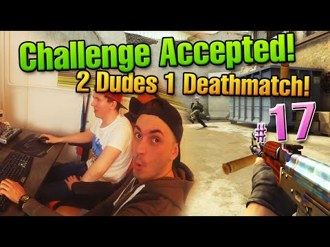 CHALLENGE ACCEPTED #17 - 2 Dudes 1 Deathmatch Game! Silver Gameplay is real!