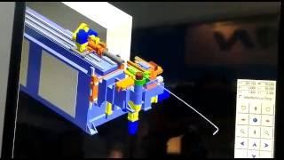 Simulation Hanjie Pipe Bender CNC 5 Axis With Servo Motors HC-380R35SM